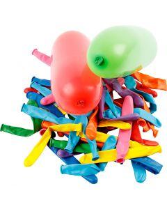 Luftballons, Lang, L: 51+58 cm, 100 Stck./ 1 Pck.