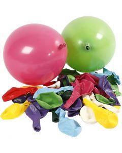 Ballons, Rund, D: 23 cm, Sortierte Farben, 100 Stck./ 1 Pck.