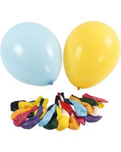Riesenballons, D: 43 cm, Sortierte Farben, 50 Stck./ 1 Pck.