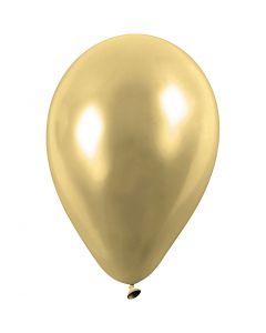 Ballons, rund, D: 23 cm, Gold, 8 Stck./ 1 Pck.
