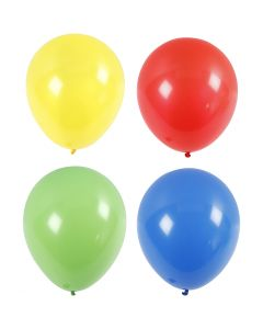 Riesenballons, Riesengröße, D: 41 cm, Blau, Grün, Rot, Gelb, 4 Stck./ 1 Pck.
