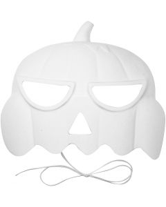 Kürbis-Maske, H: 15 cm, B: 19 cm, 1 Stck.