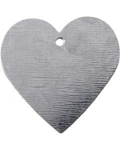 Herz aus Metall, Größe 30x30 mm, 15 Stck./ 1 Pck.