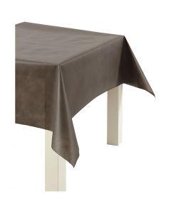 Tischdecke aus Stoff-Imitat, B: 125 cm, 70 g, Braun, 10 m/ 1 Rolle