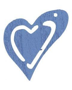 Asymmetrisches Herz, Größe 25x22 mm, Hellblau, 20 Stck./ 1 Pck.
