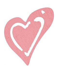 Asymmetrisches Herz, Größe 25x22 mm, Rosa, 20 Stck./ 1 Pck.