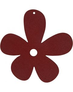 Blume, Größe 57x51 mm, Weinrot, 10 Stck./ 1 Pck.