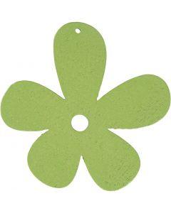 Blume, Größe 57x51 mm, Lindgrün, 10 Stck./ 1 Pck.