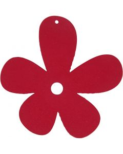 Blume, Größe 57x51 mm, Dunkelpink, 10 Stck./ 1 Pck.