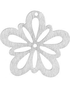 Blume, D: 27 mm, Weiß, 20 Stck./ 1 Pck.