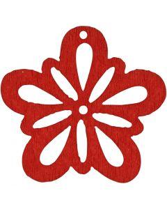Blume, D: 27 mm, Rot, 20 Stck./ 1 Pck.