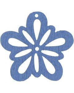 Blume, D: 27 mm, Hellblau, 20 Stck./ 1 Pck.