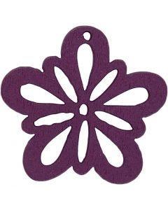 Blume, D: 27 mm, Dunkellila, 20 Stck./ 1 Pck.