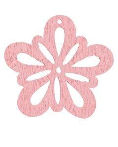 Blume, D: 27 mm, Rosa, 20 Stck./ 1 Pck.
