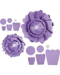 Papierblumen, D: 15+25 cm, 230 g, Flieder, 2 Stck./ 1 Pck.