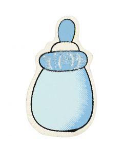 Milchflasche, Größe 22x37 mm, Hellblau, 10 Stck./ 1 Pck.