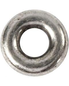 Gliedperle, D: 9 mm, Lochgröße 4 mm, Antiksilber, 15 Stck./ 1 Pck.