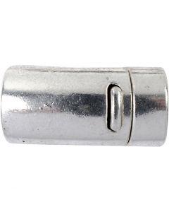 Magnetverschluss, D: 26 mm, Lochgröße 10 mm, Antiksilber, 1 Stck.
