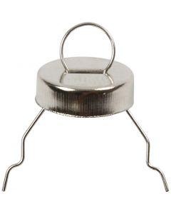 Aufhänger, D: 13 mm, Lochgröße 5 mm, Silber, 25 Stck./ 1 Pck.