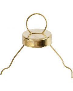 Aufhänger, D: 13 mm, Lochgröße 5 mm, Gold, 25 Stck./ 1 Pck.