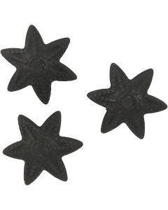 Perlkappe, D: 10 mm, Schwarz, 10 Stck./ 1 Pck.