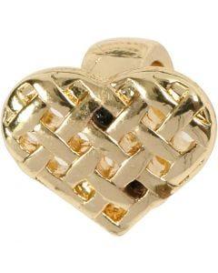 Herz, Größe 13x11 mm, Vergoldet, 1 Stck.