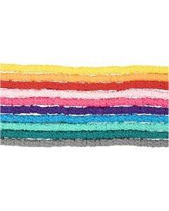 Tonperlen, D: 5-6 mm, Lochgröße 2 mm, Sortierte Farben, 10x145 Stck./ 1 Pck.