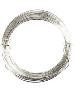 Silberdraht, Stärke: 0,4 mm, Versilbert, 20 m/ 1 Rolle