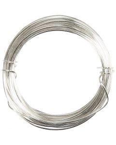 Silberdraht, Stärke: 0,6 mm, Versilbert, 10 m/ 1 Rolle