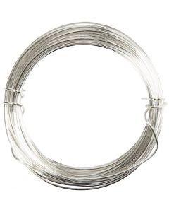 Silberdraht, Stärke: 0,8 mm, Versilbert, 6 m/ 1 Rolle