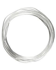 Silberdraht, Stärke: 1,2 mm, Versilbert, 3 m/ 1 Rolle