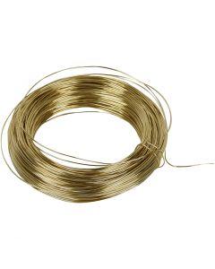 Messingdraht, Stärke: 0,6 mm, Messing, 50 m/ 1 Rolle