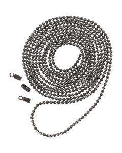 Kugelkette, D: 1,5 mm, Metallic-Hellgrau, 1 m