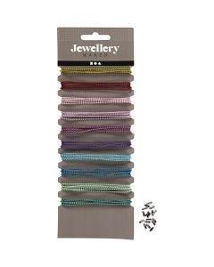 Farbige Perlenkette, D: 1,5 mm, Sortierte Farben, 10x80 cm/ 1 Pck.