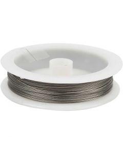 Schmuckdraht, Stärke: 0,38 mm, Silber, 30 m/ 1 Rolle