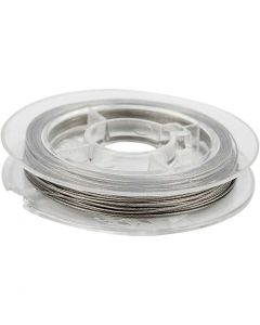 Schmuckdraht, Stärke: 0,38 mm, Silber, 10 m/ 1 Rolle