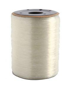 Elastischer Schmuckfaden, rund, Stärke: 0,8 mm, 1000 m/ 1 Rolle