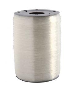 Elastischer Schmuckfaden, rund, Stärke: 0,5 mm, 1000 m/ 1 Rolle