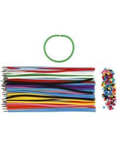 Armbänder - Sortiment, L: 20 cm, Stärke: 4 mm, Sortierte Farben, 48 Set/ 1 Pck.