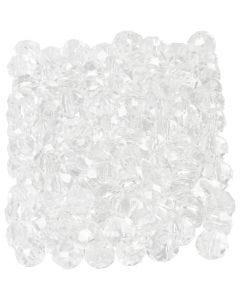 Glasschliffperlen, Größe 3x4 mm, Lochgröße 0,8 mm, Kristall, 100 Stck./ 1 Pck.