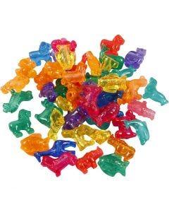 Plastikperlenmix Figuren, Größe 25 mm, Lochgröße 4 mm, 1000 g, Sortierte Farben, 2000 ml/ 1 Dose