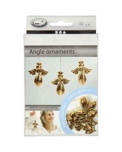 Engel zum Zusammensetzen, H: 5,5 cm, B: 4,5 cm, Gold, 4 Stck./ 1 Pck.