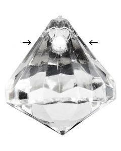Prisma aus Acryl, Größe 17x16 mm, Lochgröße 1,2 mm, Glänzend transparent, 43 Stck./ 1 Pck.
