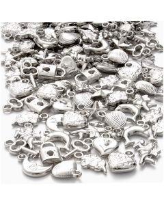 Silberanhänger, Größe 15-20 mm, Lochgröße 3 mm, 80 g/ 1 Pck.