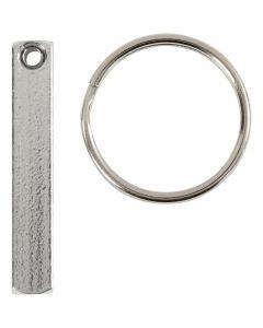 Schlüsselanhänger-Set, Größe 40x5 mm, 6 Stck./ 1 Pck.