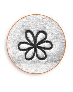 Prägestempel, Blume, L: 65 mm, Größe 6 mm, 1 Stck.