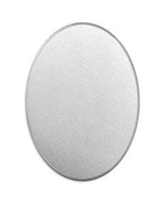 Metall-Ring, Oval, Größe 18x13 mm, Stärke: 1,3 mm, Aluminium, 15 Stck./ 1 Pck.
