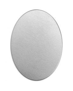 Metall-Ring, Oval, Größe 25x18 mm, Stärke: 1,3 mm, Aluminium, 15 Stck./ 1 Pck.