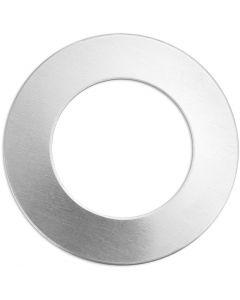 Metall-Ring, Ring, D: 32 mm, Lochgröße 19,32 mm, Stärke: 1,3 mm, Aluminium, 9 Stck./ 1 Pck.