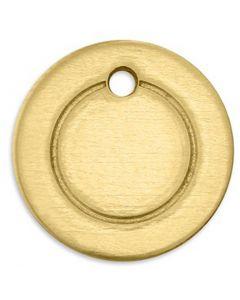 Metall-Ring, Rund, D: 13 mm, Lochgröße 1,85 mm, Stärke: 1 mm, Messing, 11 Stck./ 1 Pck.